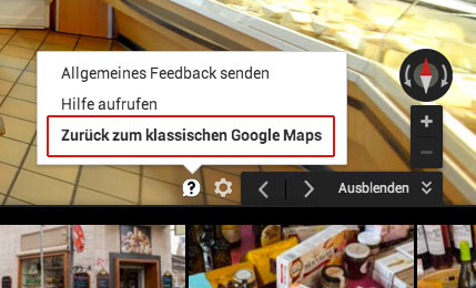 Einbindung Google Business View
